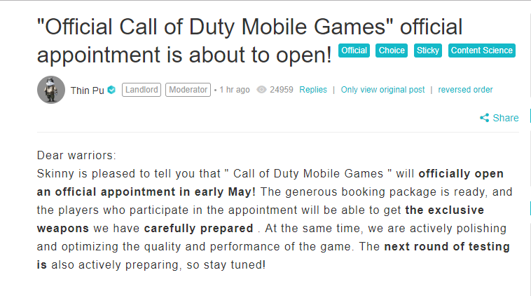 Call of Duty Mobile Beta Will Release in May: Officially Announced