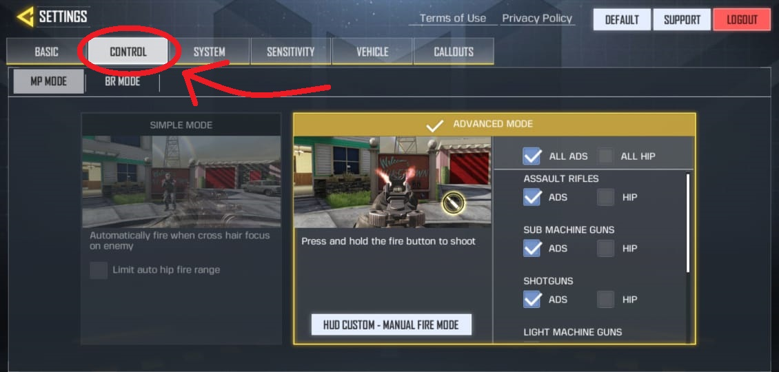 How to Switch Off Gun Auto Scope in Call of Duty Mobile