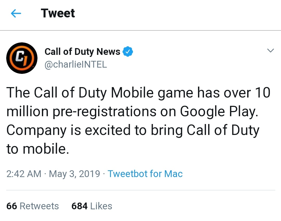 Call of Duty Mobile Reaches 10 Million Pre-Registrations