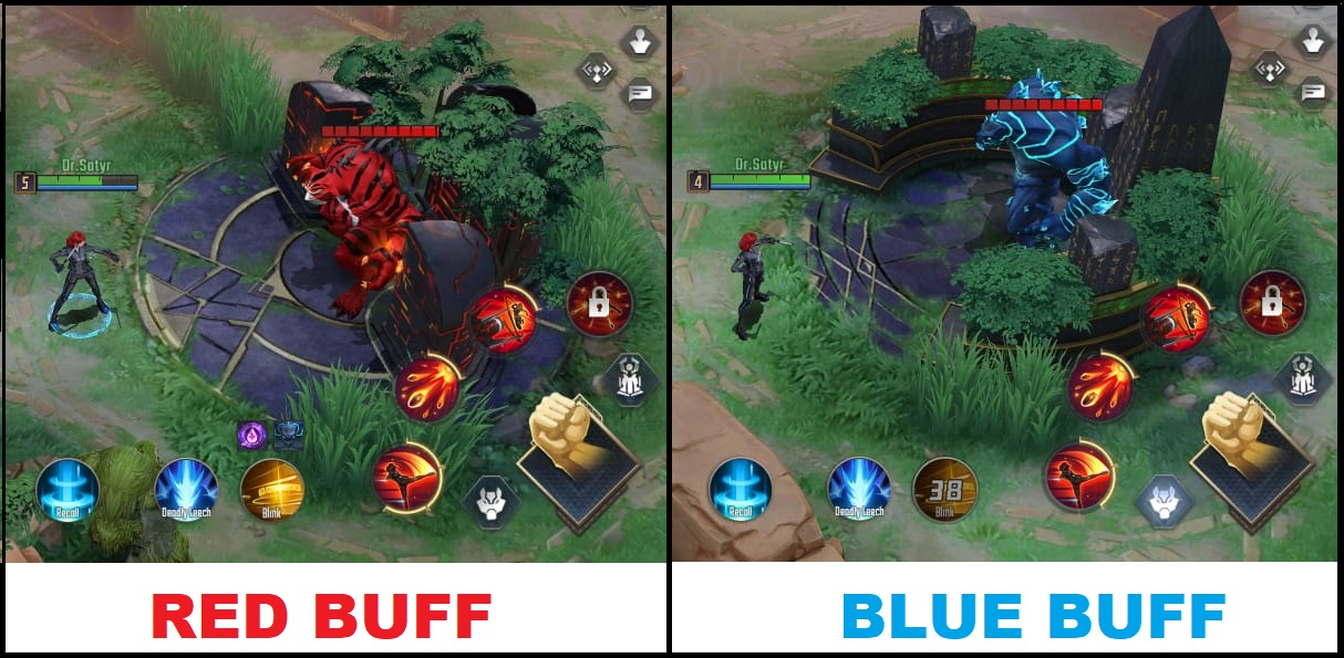 Marvel Super War Red & Blue Buff Explained